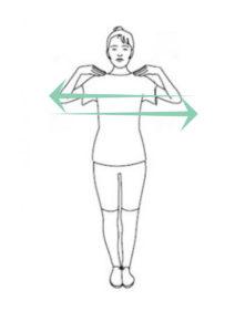 повороты плечами