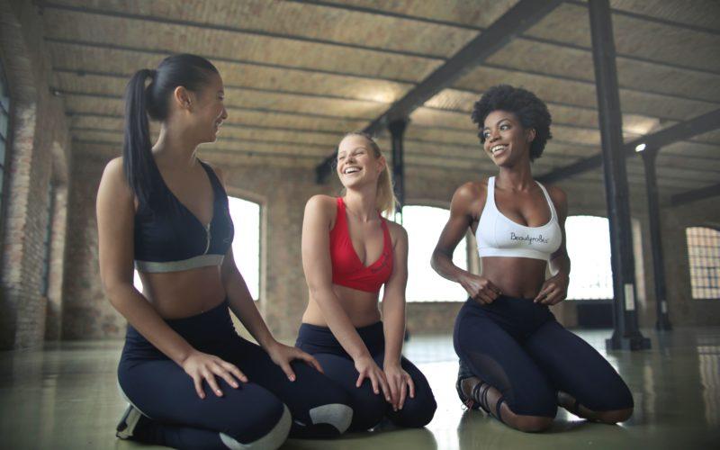 тренировка девушек