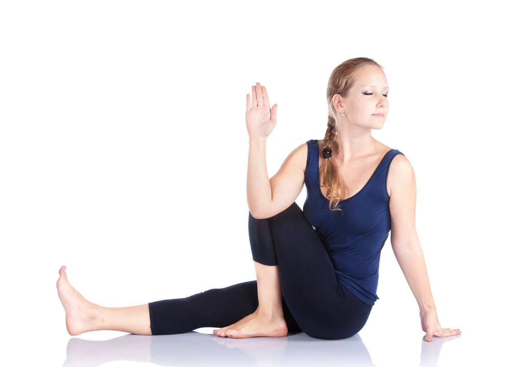 скрутка йога